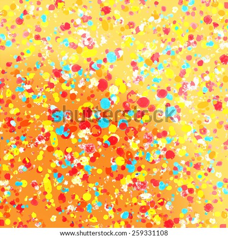 Multicolored bright spots of ink - stock vector