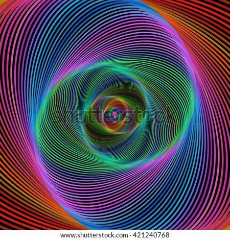 Multicolored computer generated spiral fractal design background vector - stock vector