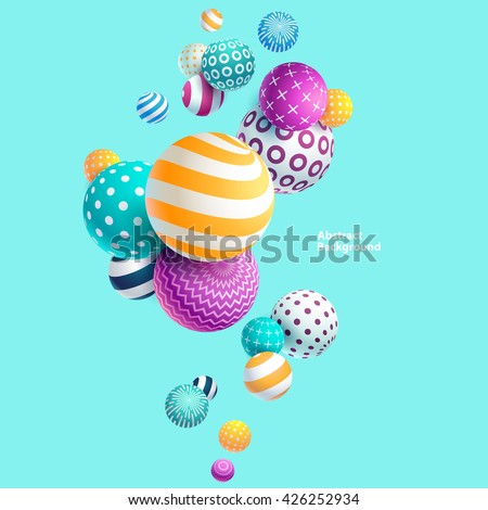 Multicolored decorative balls. Abstract vector illustration. - stock vector