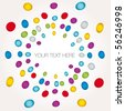 Multicolored dot background vector point illustration - stock vector