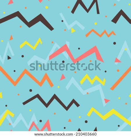 Multicolored fun seamless pattern for party. Bright and funny background. Abstract seamless texture can be used for celebration. - stock vector