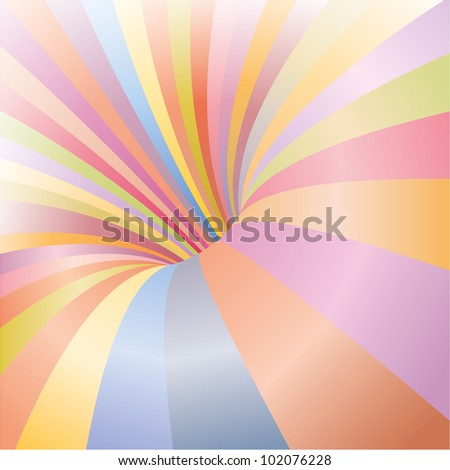 Multicolored funnel background ready for some happy situation - stock vector