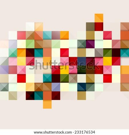 Multicolored geometric background - stock vector