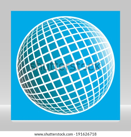 Multicolored globe design.  - stock vector