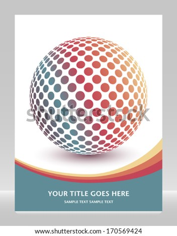 Multicolored globe design with copy space.  - stock vector