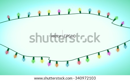 multicolored lights. Jewellery. New Year Christmas. Vector.