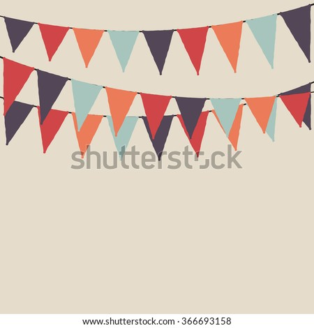 Multicolored party flags. Party background with flags. Vector background. - stock vector