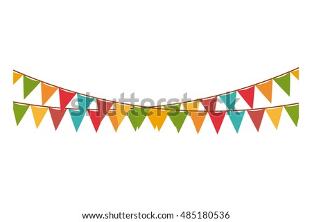 Festival Carnival And Decoration Theme Isolated Design Vector Illustration