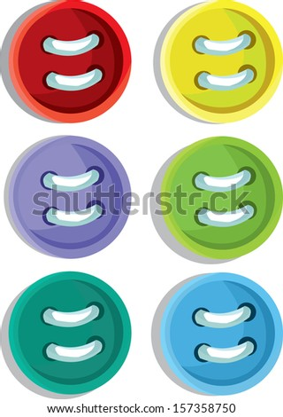 Multicolored Sewing Items - stock vector