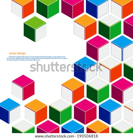 Multicolored square vector design