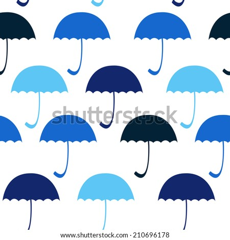 Multicolored umbrella on the black background. Vector. EPS - stock vector