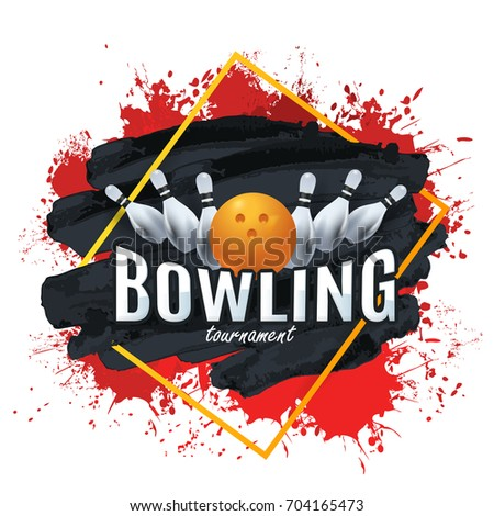Multicolored Vector Background Bowling Poster Event Info Postcard Design Sports Ad Web Banner Or