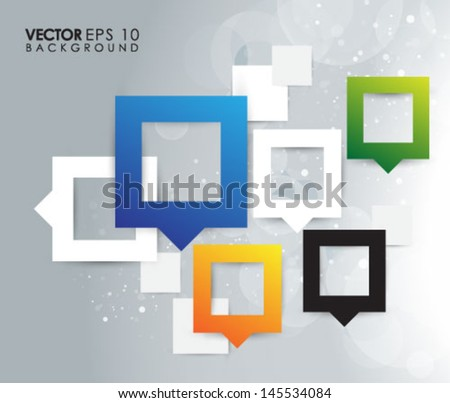 Multicolour Square Abstract eps10 vector design - stock vector
