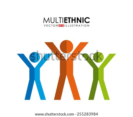 multiethnic people design, vector illustration eps10 graphic