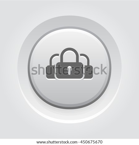 Multikey Security Services Icon. Flat Design. - stock vector