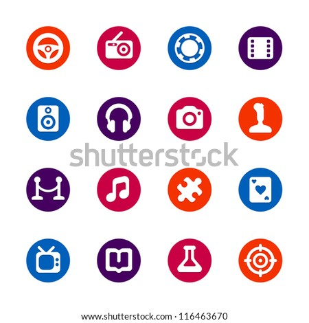 Multimedia and Entertainment - stock vector