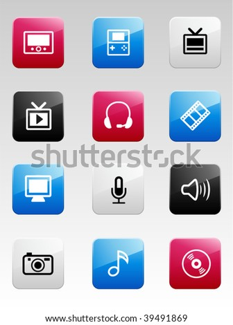 Multimedia color icons