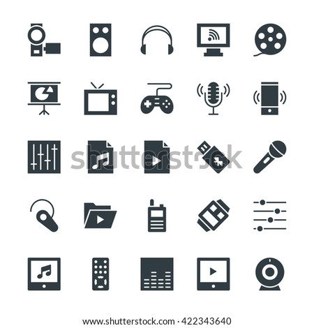 Multimedia Cool Vector Icons 4