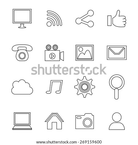 Multimedia design over white background, vector illustration.