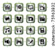 Multimedia icons set HL. Illustration vector - stock vector