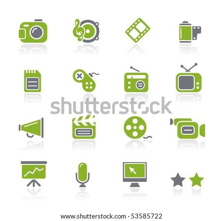 Multimedia // Natura Series - stock vector