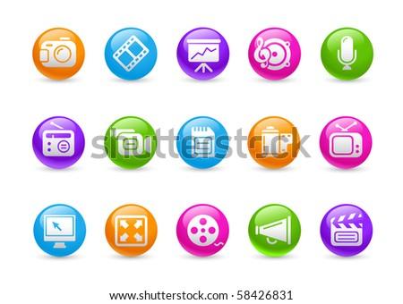Multimedia // Rainbow Series - stock vector