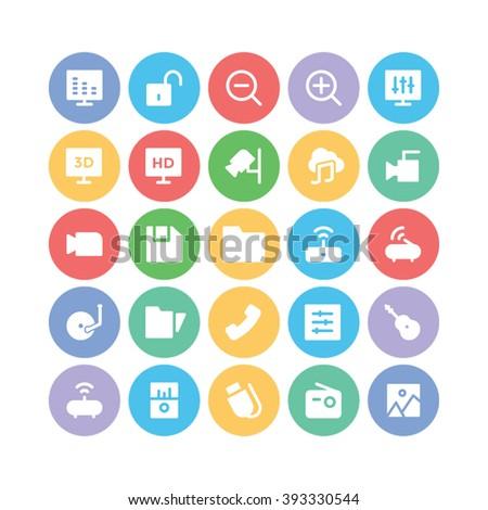 Multimedia vector icon 3 - stock vector