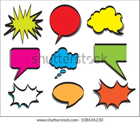 Multiple announcement of colors. Vector Illustration - stock vector