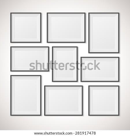 Multiple Frames, vector illustration - stock vector