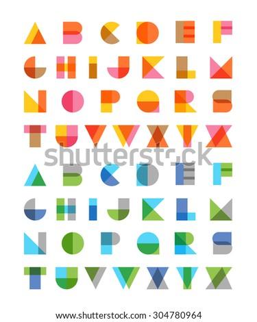 Multiply geometric elements letters. Design elements - stock vector