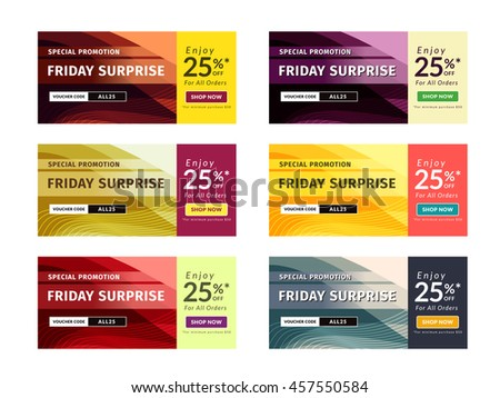 Multipurpose Banner Design in 6 Different Color Themes.
