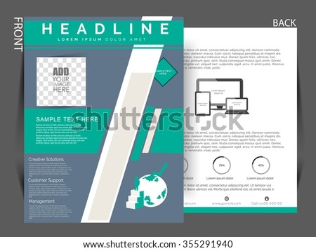 multipurpose business flyer, vector eps10 can be use for printing or marketing.