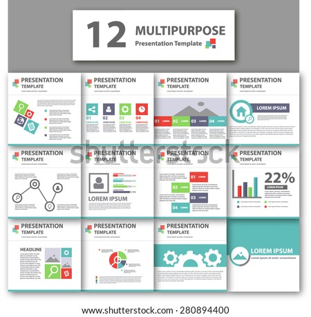 Multipurpose business presentation brochure flyer Template set - stock vector
