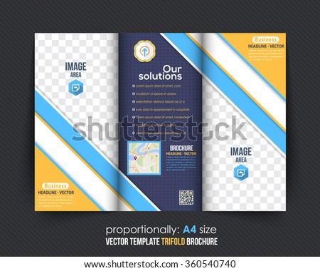 Multipurpose Colorful Tri-fold Brochure Design, Catalog Vector Template - stock vector