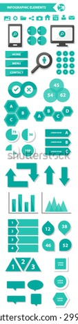 Multipurpose Infographic element and icon flat design set for presentation brochure flyer marketing and advertising 1 - stock vector