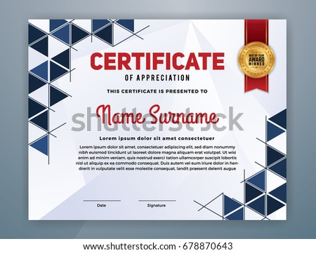 Multipurpose modern professional certificate template design stock multipurpose modern professional certificate template design for print vector illustration yadclub Images