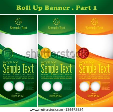 Multipurpose roll up banner - stock vector
