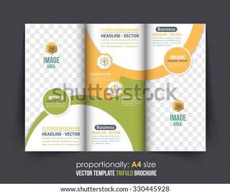 Multipurpose Tri-fold Brochure Design, Catalog Vector Template - stock vector