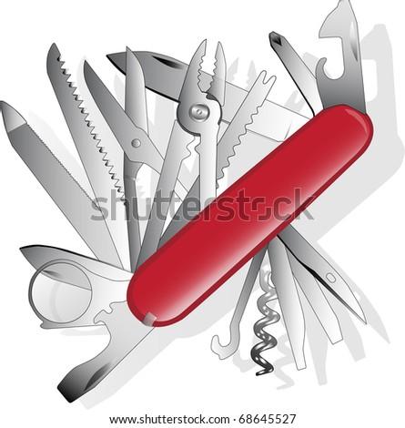 multipurpose vector illustration of knife - stock vector