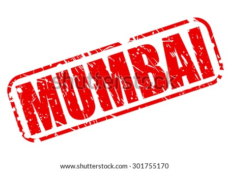 Mumbai red stamp text on white - stock vector