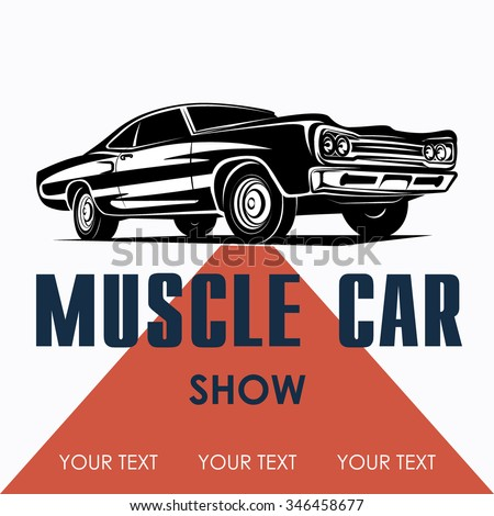 Muscle car poster background vector