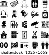 Museum icons - stock vector