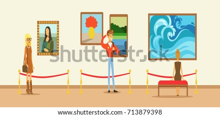 Doodle People Door Cartoon Germs Stock Illustration