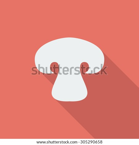 Mushroom icon. Flat vector related icon with long shadow for web and mobile applications. It can be used as - logo, pictogram, icon, infographic element. Vector Illustration. - stock vector