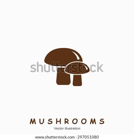 Mushroom icon. Vector illustration - stock vector