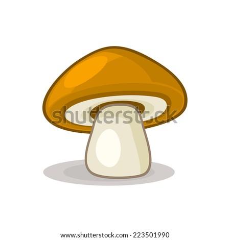 Mushroom isolated on white background. Vector illustration - stock vector
