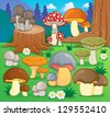 Mushroom theme image 4 - vector illustration. - stock vector
