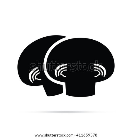 Mushrooms Icon - stock vector