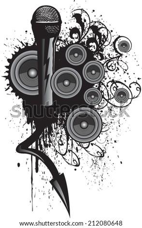 music - stock vector