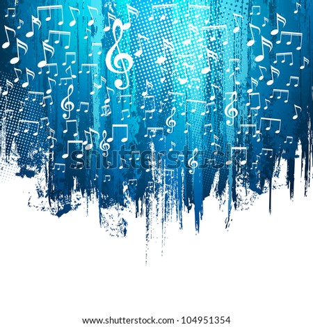 Music. Abstract background. Paint splashes illustration with place for your text. - stock vector